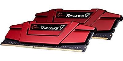 G.SKILL Ripjaws V Series 8GB (2x4GB) 288-Pin DDR4 SDRAM DDR4 2400 (PC4 19200) Intel Z170 Platform / Intel X99 Platform Desktop Memory F4-2400C15D-8GVR from G.SKILL