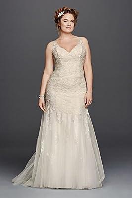 Lace Plus Size Melissa Sweet Illusion Tank Wedding Dress Style 8MS251150