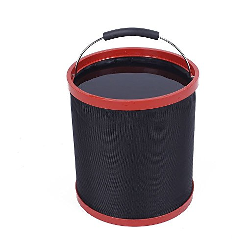 12 L Portable Folding Bucket with a Towel for For Camping Hiking Beach,Travel,Fishing,Car Washing, Lightweight Collapsible Water Container with Carrying Case