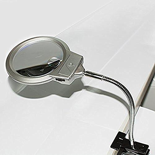 Enshey Super Bright Magnifier Desk Lamp Daylight LED 2.5X...
