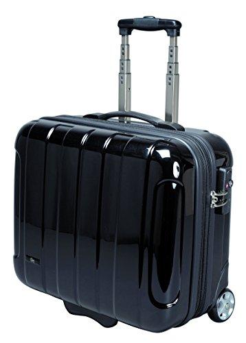 JSA Business-Trolley ABS Polycarbonat Businesskoffer mit Ausziehgriff Teleskoptrolley Trolley TSA Schloss zwei Rollen Reise Laptop Notebook Koffer Case schwarz 45513 Y2XYrpkT9