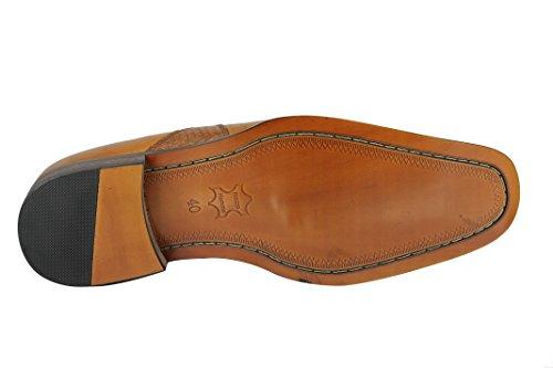 Xposed - Botas de Piel para hombre marrón