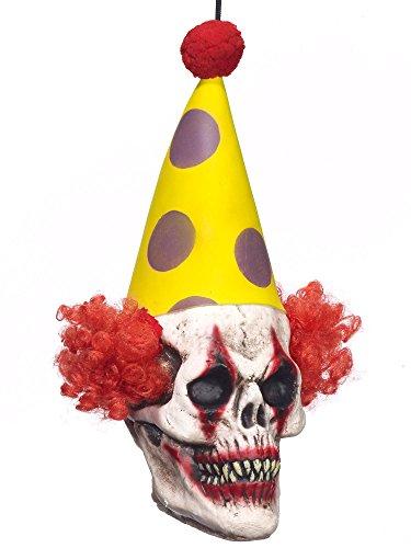 Forum Novelties 72885F Freaky Hanging Clown Head Prop - Clown Props