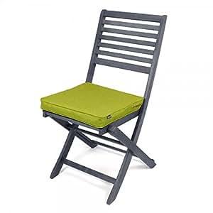 Almohadillas de lujo para sillas de jardín de ICON – Cojines para sillas de exterior, estilo Urban Palm House (verde lima)