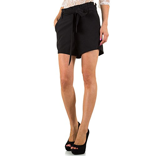 High Waist Shorts Für Damen , Schwarz In Gr. Xl bei Ital-Design