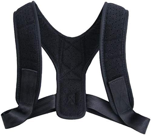 Supvox Körperhaltung Korrektor Rückenstütze für Männer Frauen verstellbar verstellbare Schulter Haarglätter schwarz Größe l
