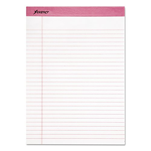 Ampad 20-098 Breast Cancer Awareness Perforated Pads, Letter Size, 50 Sheets/Pad (6-Pads)