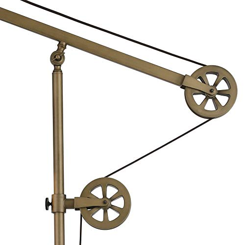 Henn Hart TL0149 Industrial Table Pulley System, in Brass Finish Lamp, Gold
