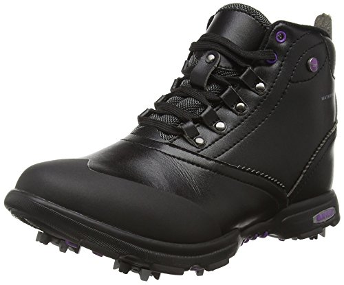 Hi-Tec Damen Driclassic Mid Golf, Black (Black/Purple 021), 39 EU (6 UK)