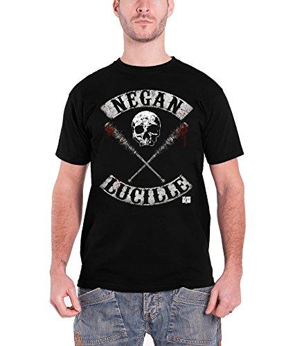 The Walking Dead Men's Negan Lucille Rockers T-shirt Black S