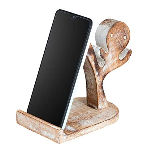 Wood Cell Phone Stand | Smartphone Wood Dock | Wood Phone Holder Ipad Tablets Stand | Stocking Stuffer Cell Phone Stand… |