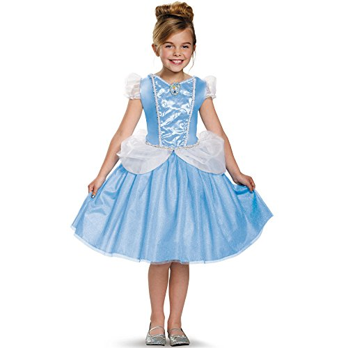 Disguise Cinderella Classic Disney Princess Cinderella Costume, Small/4-6X (Cinderella Costume For Kids)