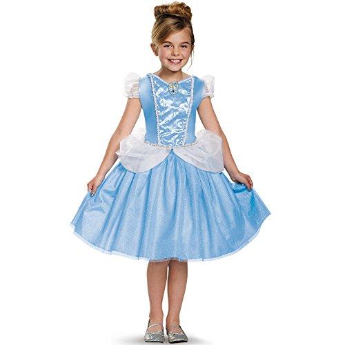 [Disguise Cinderella Classic Disney Princess Cinderella Costume, Small/4-6X] (Cinderella Costumes For Girl)