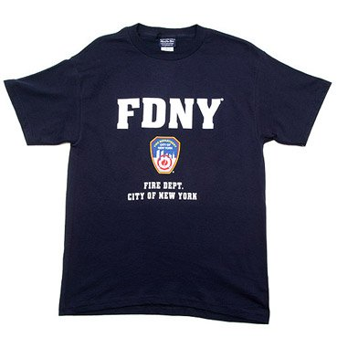 e66852c6 Image Unavailable. Image not available for. Color: FDNY Shirt T-Shirt  Authentic Clothing Apparel Officially Licensed Merchandise by The ...
