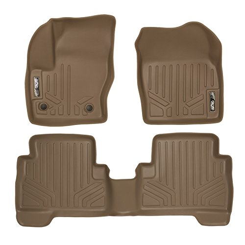 (MAX LINER A1115/B1115 Custom Fit Floor Mats 2 Row Liner Set Tan for 2013-2019 Ford Escape/C-Max)