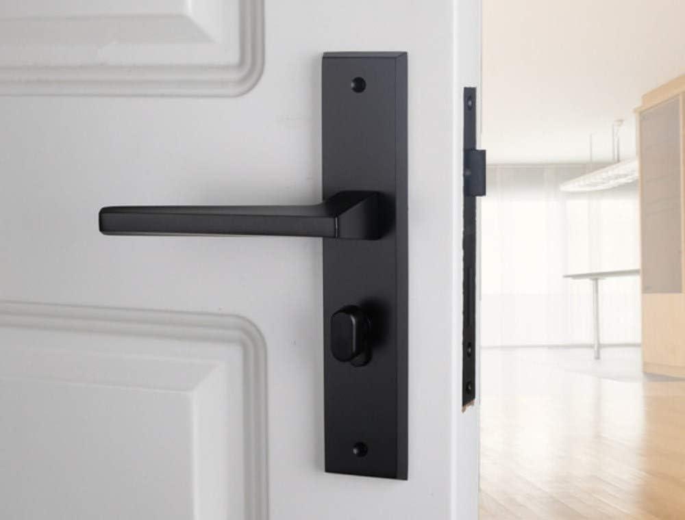 ZTZT Cerradura de la puerta negra americana, nórdica, interior simple, plateada, habitación de la esclusa, cerradura de la habitación, puerta de silencio, cerradura con llave: Amazon.es: Bricolaje y herramientas