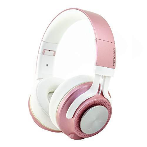 Bluetooth Koptelefoons, PowerLocus P3 draadloze Over-Ear Koptelefoon P3 Inklapbaar – Bluetooth 5.0 – Met microfoon (Rose…