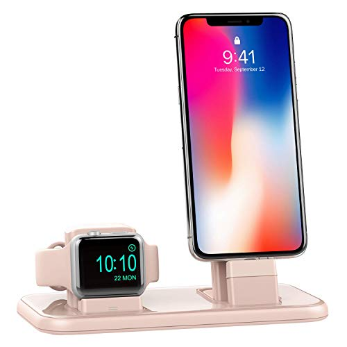 BEACOO Charging Stand for Apple Watch Series 4, 2 in 1 Charging Dock for iPhone Airpods Charging Station for iWatch 4/3/2/1/iPhone Xs/X Max/XR/X/8/8Plus/7/7 Plus /6S /6S Plus/iPad