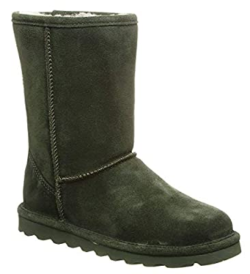 BEARPAW Women's Elle Short Winter Boot Forest Green