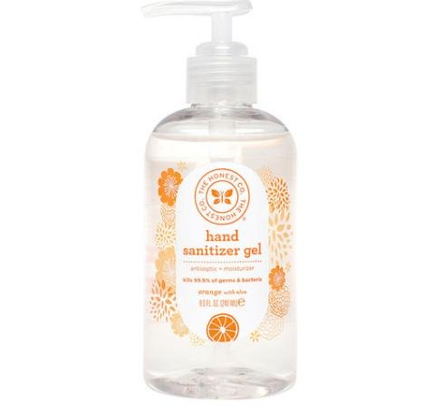 The Honest Company Orange Hand Sanitizer Gel 8oz (No Rinse Hand Sanitizer)