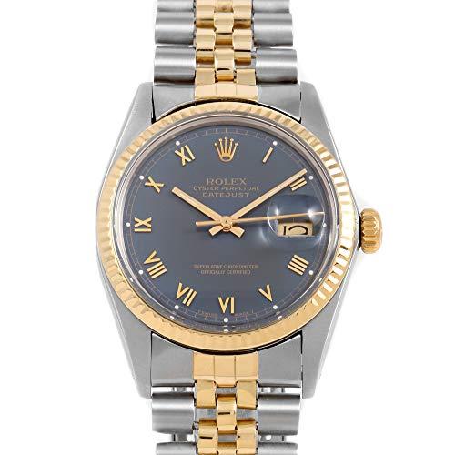 (Box & Papers - Rolex 16013 Men's 36mm Datejust Model - Blue Roman Dial - Jubilee Bracelet (Certified Pre-Owned))