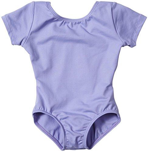 Bal Togs Youth Basic Silkteck Short Sleeve Leotard, Lavender - S