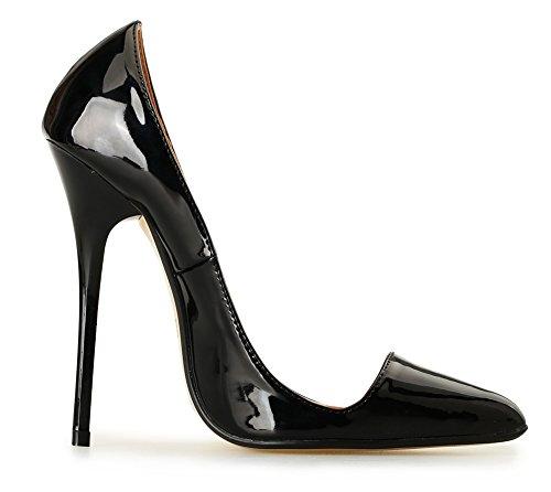 Alto Tamaño Cerrado Black1 49 Puntiagudo Zapatillas Para Del 40 Negro Corte Talones Boda Estilete Mujer Dedo Inteligente Pie Fiesta Vestir Zapatos dRCTwqdx0