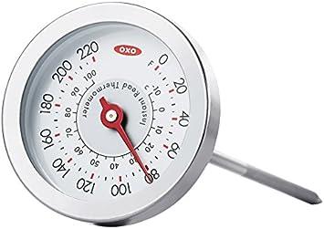 Oxo Good Grips analógico termómetro de Lectura instantánea, Acero Inoxidable, Color Plateado