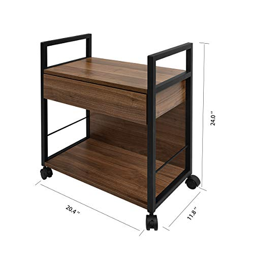 WLIVE Mobile Printer Stand, Office Serving Cart, Computer Side Table Machine Cart Stand with Storage Drawer for Home Office by WLIVE (Image #5)