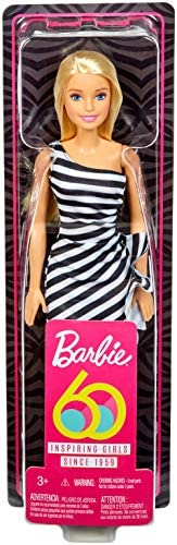 60th Anniversary Barbie Doll White Sateen Shiny Glittery Dress And Shoes Set