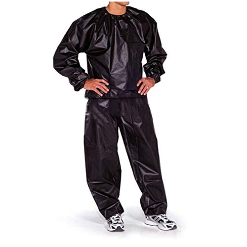 Waterproof Windproof PVC Sauna Suit Anti-Rip Training Fitness Weight Loss Sport Sauna Clothes Solid Color Gym Suit XXL