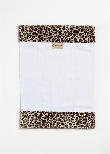 Burp'nBaby Chenille Cheetah Burp Cloth (Chenille Infant Burp Cloth)