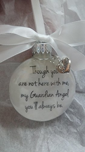 In Memory Husband Gift My Guardian Angel You'll Always Be - Spouse Memorial Christmas Ornament ()