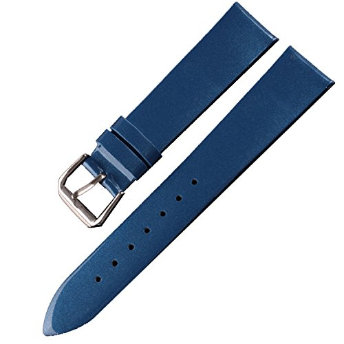 Blue Patent Leather Watch Band Womens Ladies Strap 12mm 14mm 16mm 18mm 20mm (20mm)