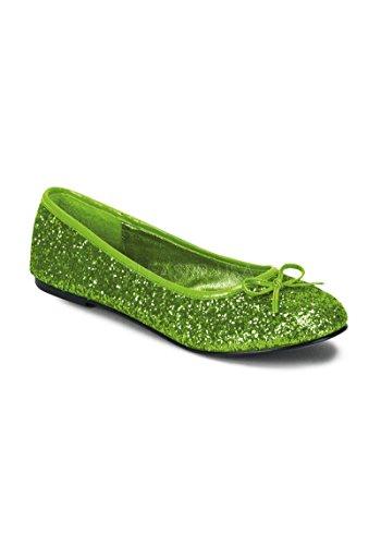 Funtasma Women's Star-16G Flat,Lime Green,8 M US -