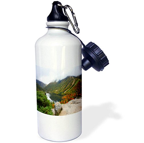 3dRose TDSwhite – Miscellaneous Photography - Mountain View Lake Boulder - 21 oz Sports Water Bottle (wb_285417_1) by 3dRose