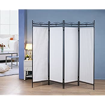 Amazoncom 4 Panel Room Divider Privacy Screen Home Office Fabric