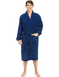 Del Rossa Mens Turkish Terry Cloth Robe, Thick Bathrobe