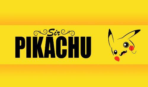 Pokemon Sir Pikachu Playmat by HiddenSupplies.com