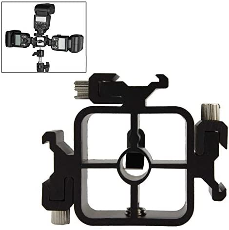 CAOMING 3 Triple Head Hot Shoe Mount Adapter Flash Holder Bracket Light Stand Holder XF0003 Durable