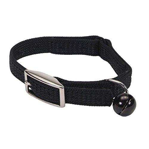 (Coastal Pet Sassy Snag-Proof Nylon Cat Safety Collar (Black, 10 Inch L x 3/8 Inch W))