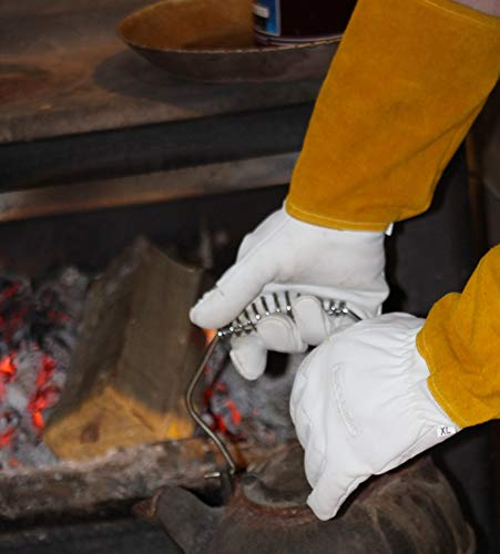MIG TIG Welding Gloves | 16'' Soft Leather | Kevlar Stitching & Hand Lining Weld Glove (Medium) by Suse's Kinder (Image #8)