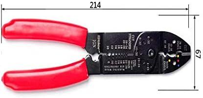 WY-WY 家の修理に適した、すなわち屋外産業メンテナンスレッド多機能電気技師ピーリング圧着プライヤーセット(カラー:レッド、サイズ:21.4 * 6.7センチメートル) ラジオペンチ
