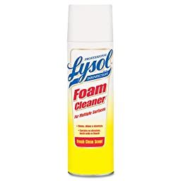 Lysol Professional Disinfectant Foam Cleaner Aerosol for Multiple Surfaces, 24 Ounce (Pack of 12)