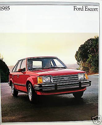 1985 Ford Escort hatchback/wagon vehicle brochure - Ford Escort Hatch