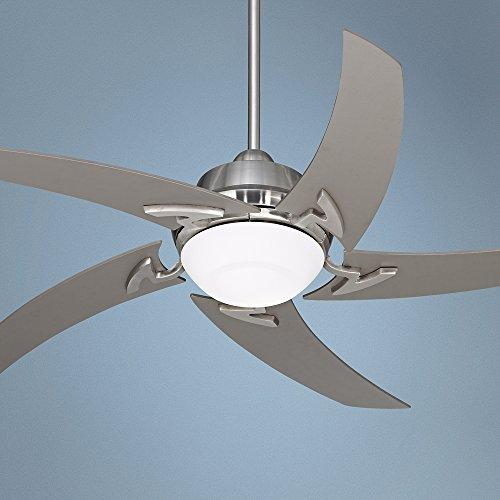 Travel Ceiling Fan : ″ casa vieja capri brushed nickel ceiling fan with light