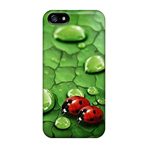 Asbarn Perfect Tpu Case For Iphone 5/5s/ Anti-scratch Protector Case (two Ladybugs)