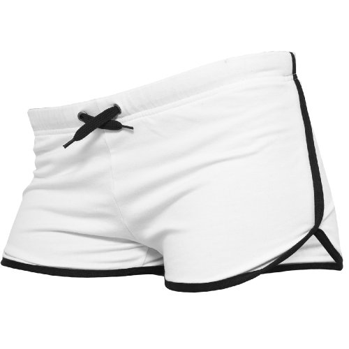 """Urban Classics"" Shorts ""Ladies French Terry Hotpants"", Größe: S, Farbe: white-black"