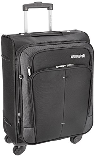 American Tourister Crete Polyester 55cms Black Softsided Carry-On (49W (0) 09 001)