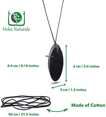 EMF Protection Pendant Heka Naturals Shungite Pendant Necklace Shungite Jewelry is Trendy and Used for Chakra and Energy Balancing
